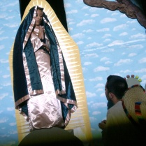 The virgin appears to Juan Diego